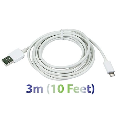 Exian Lightning USB Thick Cable, 3 Meter, White