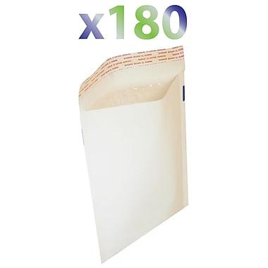 Exian Medium Bubble Mailer, 25cm X 18cm, White, 180/Pack