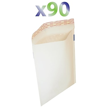 Exian Large Bubble Mailer, 36cm X 26cm, White, 90/Pack