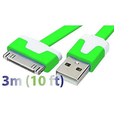 Exian 30PIN Flat USB Cable, 3 Meter, Green