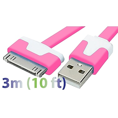 Exian 30PIN Flat USB Cable, 3 Meter, Pink