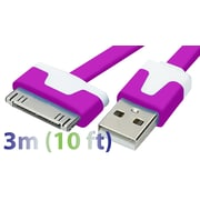 Exian 30PIN Flat USB Cable, 3 Meter, Purple