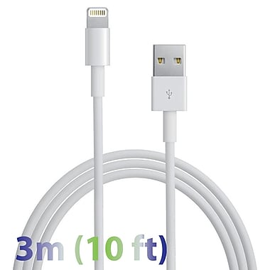 Exian Lightning USB Cable, 3 Meter, White