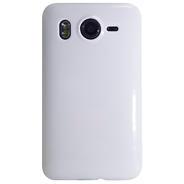 Exian Case for HTC Desire, White Shiny Plain