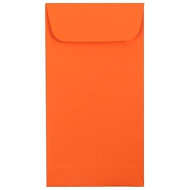 JAM Paper - Enveloppes à monnaie no 7, 3,38 x 6 po, papier recyclé de couleur orange vif, 100/paquet (1526755G)