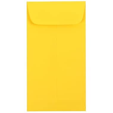 JAM Paper - Enveloppes à monnaie no 7, 3,5 x 6,5 po, papier couleur jaune vif, 100/paquet (1526761G)