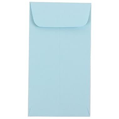 JAM Paper® #7 Coin Envelopes, 6.5 x 3.5, Baby Blue, 100/Pack (1526770g)