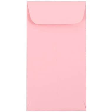 JAM Paper® #7 Coin Envelopes, 6.5 x 3.5, Baby Pink, 100/Pack (1526773g)