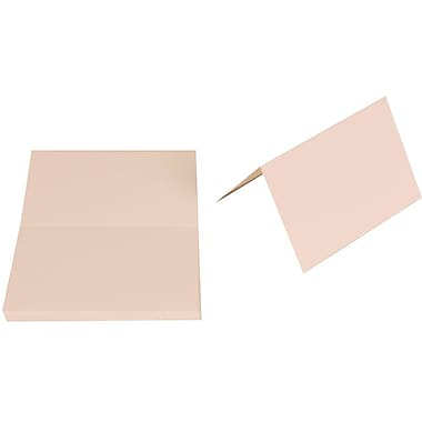 JAM Paper® Blank Foldover Cards, 3drug size, 2 3/16 x 3.38, 80lb Strathmore Bright White Wove, 50/Pack (1805682g)
