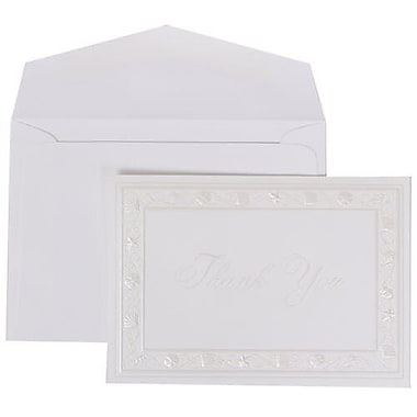 JAM Paper® Thank You Cards Set, Pearl Seashells with White Envelope, 104 Note Cards with 100 Envelopes (52690352)