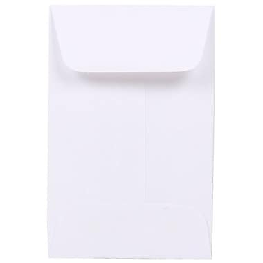 JAM Paper® #1 Coin Envelopes, 2.25 x 3.5, White, 200/Pack (122326658g)