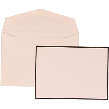 JAM Paper® Wedding Invitation Set, Small, 3.38 x 4.75, White Cards with Thin Black Border, White Envelopes (303424755)