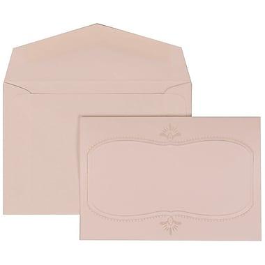 JAM Paper® Wedding Invitation Set, Small, 3.38 x 4.75, White Cards with Monogram Design, White Envelopes, 100/Pack (303624861)