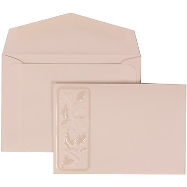 JAM Paper® Wedding Invitation Set, Small, 3.38 x 4.75, White Card with Falling Leaves, White Envelopes, 100/Pack (304225013)