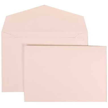 JAM Paper® Wedding Invitation Set, Small, 3.38 x 4.75, White Note Cards with Plain White Envelopes, 100/Pack (304325163)