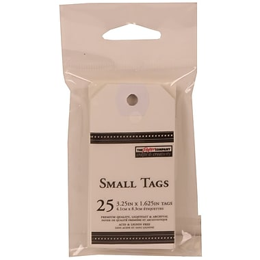 JAM Paper® Gift Tags with String, Medium Rectangle, 1.63 x 3.25, White, 125/Pack (305127630g)
