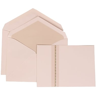 JAM Paper® Wedding Invitation Set, Large, 5.5 x 7.75, White with Crystal Lined Envelopes and Jewel Accent, 50/Pack (305324691)