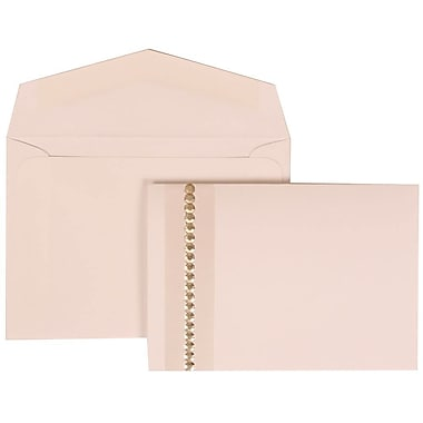 JAM Paper® Wedding Invitation Set, Small, 3.38 x 4.75, White with White Envelopes and Jewel Accent, 100/Pack (305324692)