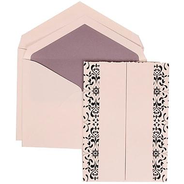 JAM Paper® Wedding Invitation Set, Large, 5.5 x 7.75, White with White Envelopes and Black Castilian, 50/Pack (305724750)