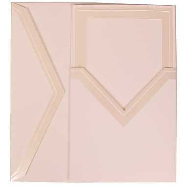 JAM Paper® Wedding Invitation Set, Medium, 5.5 x 7.75, White with Ivory Border with Ivory Pocket Envelopes, 50/Pack (306424788)