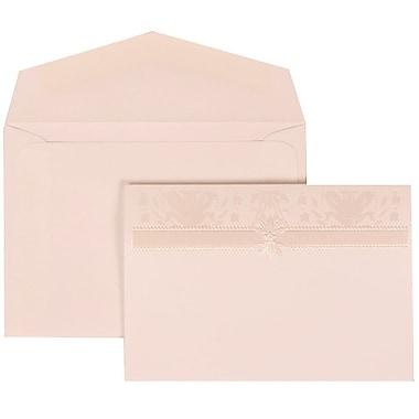 JAM Paper® Wedding Invitation Set, Small, 3.38 x 4.75, White Cards, Ivory Design, White Envelopes, 100/Pack (306624795)