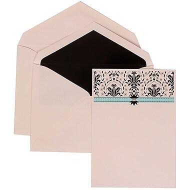 JAM Paper® Wedding Invitation Set, Large, 5.5 x 7.75, Blue Card with Black Lined Envelopes, 50/Pack (306724803)