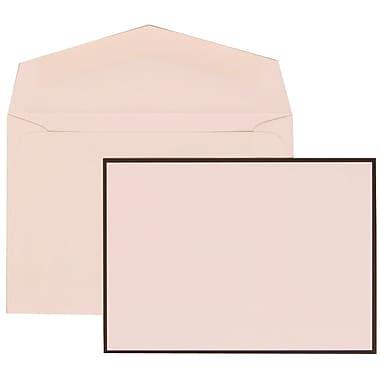 JAM Paper® Wedding Invitation Set, Small, 3.38 x 4.75, White with White Envelopes and Black Border, 100/Pack (306824818)
