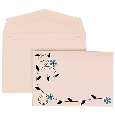 JAM Paper® Wedding Invitation Set, Small, 3.38 x 4.75, Blue with White Envelopes with Colourful Birds, 100/Pack (308124936)