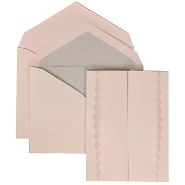 JAM Paper® Wedding Invite Set, Large, 5.5 x 7.75, White, White Garden Tuxedo, Light Blue Lined Envelopes, 50/pack (308624972)