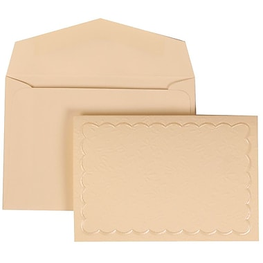 JAM Paper® Wedding Invitation Set, Small, 3.38 x 4.75, Ivory Cards, Ivory Garden Tuxedo, Ivory Envelopes, 100/Pack (308724979)