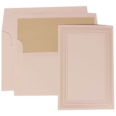 JAM Paper® Wedding Invitation Set, Large, 6.63 x 10, White with Ecru Lined Envelopes, 50/Pack (309225015)