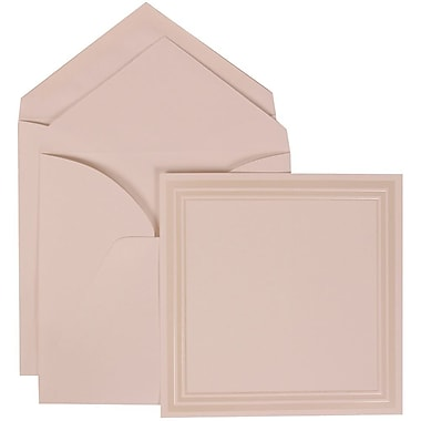 JAM Paper® Wedding Invitation Set, Large Square, 7 x 7, White, Ivory Triple Border, White Lined Envelopes, 50/Pack (309225029)