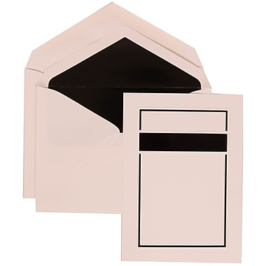JAM Paper® Wedding Invitation Set, Large, 5.5 x 7.75, Black Card with Black Lined Envelopes, 50/Pack (310025078)