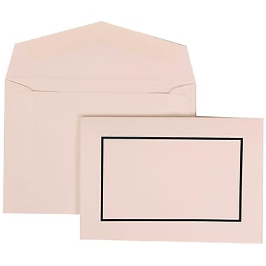 JAM Paper® Wedding Invitation Set, Small, 3.38 x 4.75, Black with White Envelopes, 100/Pack (310025079)