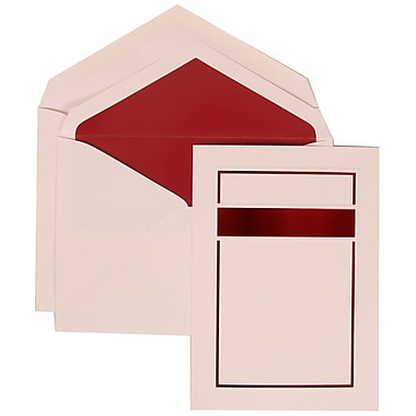 JAM Paper® Wedding Invitation Set, Large, 5.5 x 7.75, Red with Red Lined Envelopes and Red and Black Border, 50/Pack (310025081)