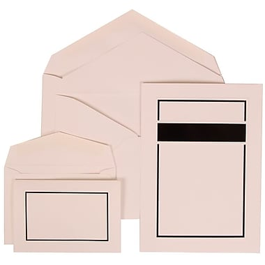 JAM Paper® Wedding Invitation Combo Sets, 1 Sm 1 Lg, White Cards with Black Border, White Envelopes, 150/pack (310025085)