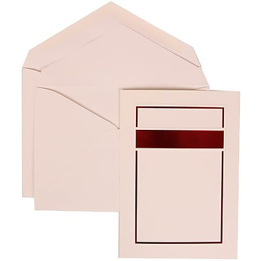 JAM Paper® Wedding Invitation Set, Large, 5.5 x 7.75, Red with White Envelopes and Red and Black Border, 50/Pack (310025086)