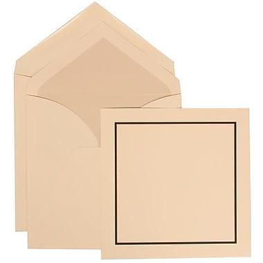 JAM Paper® Wedding Invitation Set, Large Square, 6.25 x 6.25, Ivory with Crystal Lined Envelopes, 50/Pack (310425106)