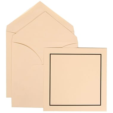 JAM Paper® Wedding Invitation Set, Large Square, 6.25 x 6.25, Ivory with Ivory Lined Envelopes, 50/Pack (310425108)