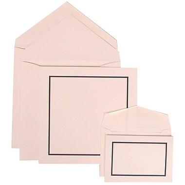 JAM Paper® Wedding Invitation Combo Sets, 1 Sm 1 Lg, White Cards with Blue Border, White Envelopes, 150/Pack (310425116)