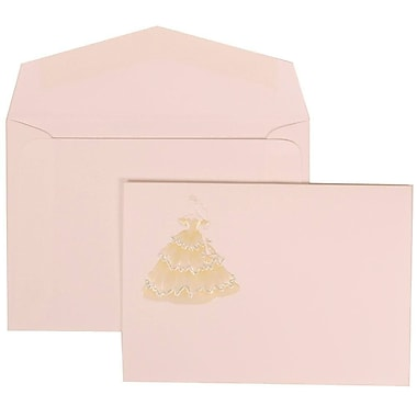 JAM Paper® Wedding Invitation Set, Small, 3.38 x 4.75, Yellow Princess Card with White Envelopes, 100/Pack (311725198)