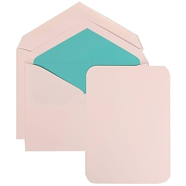 JAM Paper® Wedding Invitation Set, Large, 5.5 x 7.75, White Cards with Aqua Blue Lined Envelopes, 50/Pack (311825213)