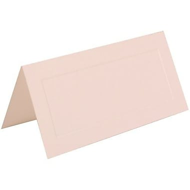 JAM Paper® Foldover Placecards, 2 x 4.25, White with Embossed Border place cards, 100/Pack (312125232)