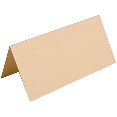 JAM Paper® Foldover Placecards, 2 x 4.25, Ivory with Embossed Border place cards, 100/Pack (312125233)