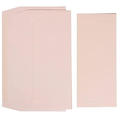 JAM Paper® Wedding Program Set, White Program with Embossed Border and Pearl Lined Envelopes, 50/Pack (312225239)