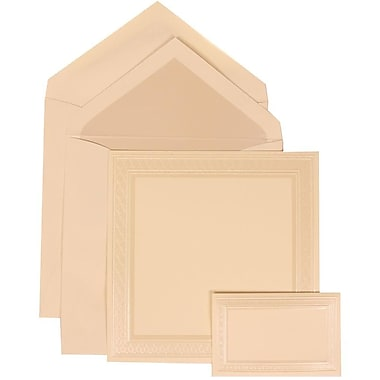 JAM Paper® Wedding Invitation Combo Sets, 1 Sm 1 Lg, Ivory, Pearl Lined Envelopes, Pearl Embossed Border, 150/Pack (312525258)