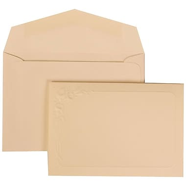JAM Paper® Wedding Invitation Set, Small, 3.38 x 4.75, Ivory Cards with Lilly Border, Ivory Envelopes, 100/Pack (312625286)
