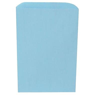 JAM Paper® Merchandise Bags, Small, 6.25 x 9.25, Baby Blue, 1000/Pack (342126784)