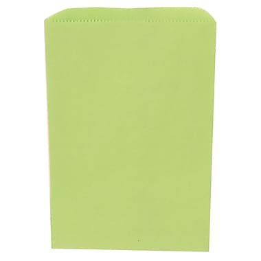 JAM Paper® Merchandise Bags, Small, 6.25 x 9.25, Lime Green, 1000/Pack (342126805)