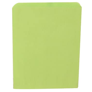 JAM Paper® Merchandise Bags, Medium, 8.5 x 11, Lime Green, 1000/Pack (342126807)